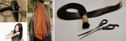 Cuidar el cabello largo
